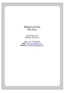 ANNIE LUXTON BSC HONS