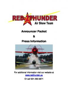 Announcer Packet & Press Information