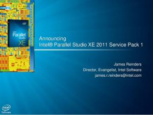 Announcing Intel Parallel Studio XE 2011 Service Pack 1
