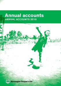 Annual accounts Annual accounts 2010