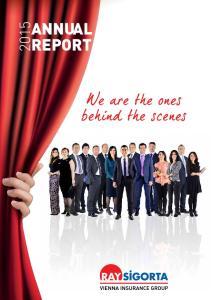 ANNUAL FAALİYET REPORT RAPORU