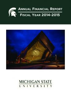 ANNUAL FINANCIAL REPORT - FISCAL YEAR