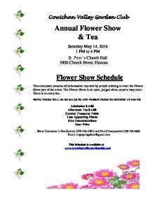 Annual Flower Show & Tea