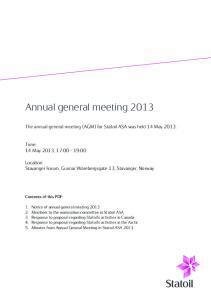 Annual general meeting 2013