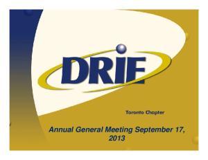 Annual General Meeting September 17, 2013