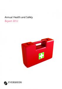 Annual Health and Safety. Report 2011
