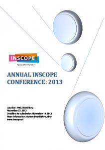 ANNUAL INSCOPE CONFERENCE: 2013