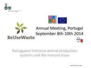 Annual Meeting, Portugal September 8th-10th 2014