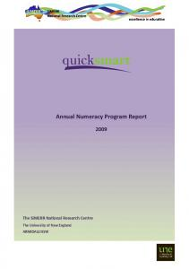 Annual Numeracy Program Report