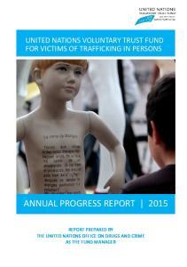 ANNUAL PROGRESS REPORT 2015