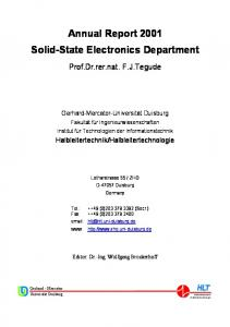 Annual Report 2001 Solid-State Electronics Department