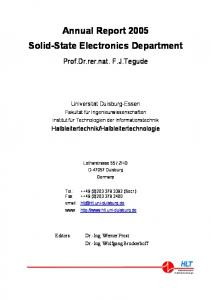 Annual Report 2005 Solid-State Electronics Department