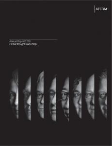 Annual Report 2008 Global thought leadership