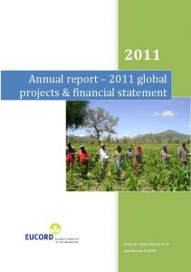 Annual report 2011 global projects & financial statement