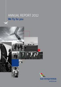 ANNUAL REPORT 2012 We fly for you