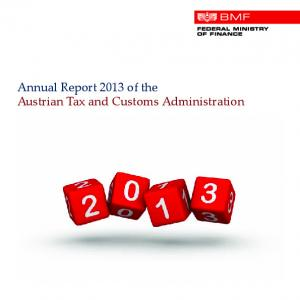 Annual Report 2013 of the Austrian Tax and Customs Administration