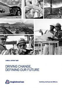 ANNUAL REPORT 2015 DRIVING CHANGE, DEFINING OUR FUTURE