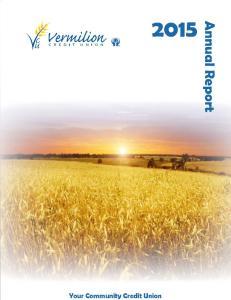 Annual Report. 73r d Annual General Meeting Monday, March 7, 2016 Vermilion Regional Centre, Vermilion, Alberta