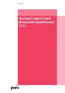 Annual report and financial statements 2015