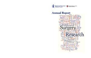 Annual Report. Annual Research Report. BIDMC Department of Surgery
