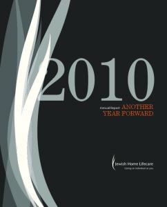 Annual Report ANOTHER YEAR FORWARD