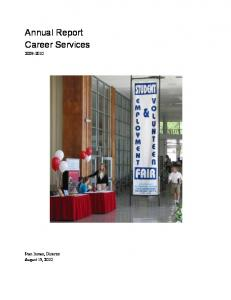 Annual Report Career Services