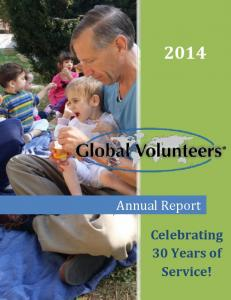 Annual Report. Celebrating 30 Years of Service!