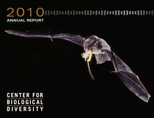 ANNUAL REPORT CENTER FOR BIOLOGICAL DIVERSITY