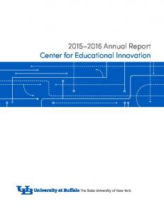 Annual Report Center for Educational Innovation