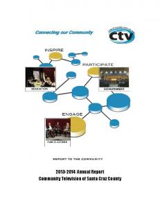 Annual Report Community Television of Santa Cruz County