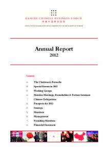 Annual Report Contents