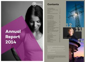 Annual. Report Contents