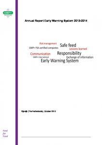 Annual Report Early Warning System