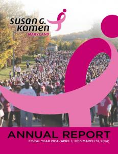 ANNUAL REPORT FISCAL YEAR 2014 (APRIL 1, 2013-MARCH 31, 2014)
