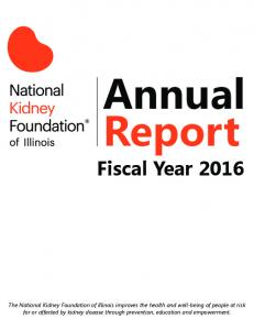 Annual Report Fiscal Year 2016