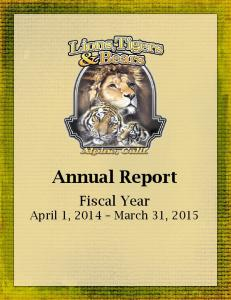 Annual Report Fiscal Year April 1, 2014 March 31, 2015