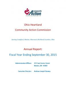 Annual Report: Fiscal Year Ending September 30, 2015