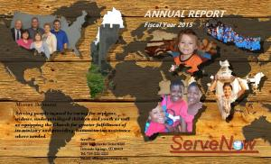 ANNUAL REPORT. Fiscal Year Mission Statement: