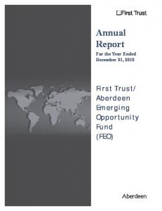 Annual Report For the Year Ended December 31, 2015