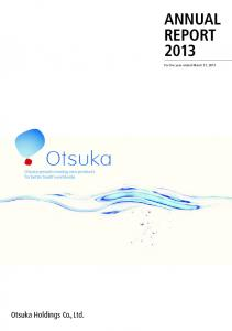 ANNUAL REPORT For the year ended March 31, 2013