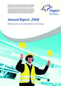 Annual Report FRA Expansion, Internationalization and Change