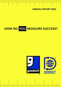 Annual Report How Do You Measure success?