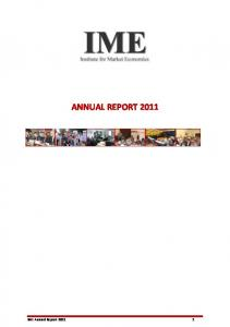 ANNUAL REPORT IME Annual Report