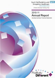 Annual Report. including Summary Financial Statements Annual Report. Page 1
