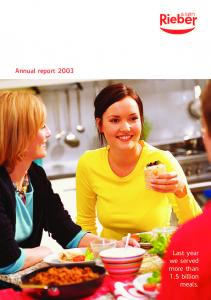 Annual report Last year we served more than 1.5 billion meals