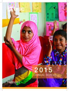 ANNUAL REPORT PAKISTAN. Annual Report