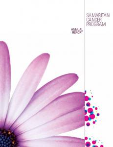 Annual report. samaritan cancer program
