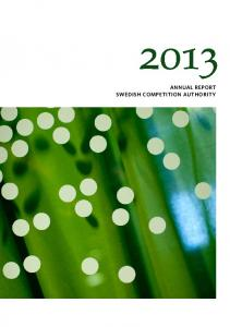 ANNUAL REPORT SWEDISH COMPETITION AUTHORITY