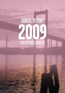 Annual Report. volvofinans bank ab