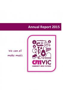 Annual Report We can all make music